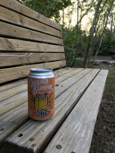Orange Blossom Pilsner on the bench