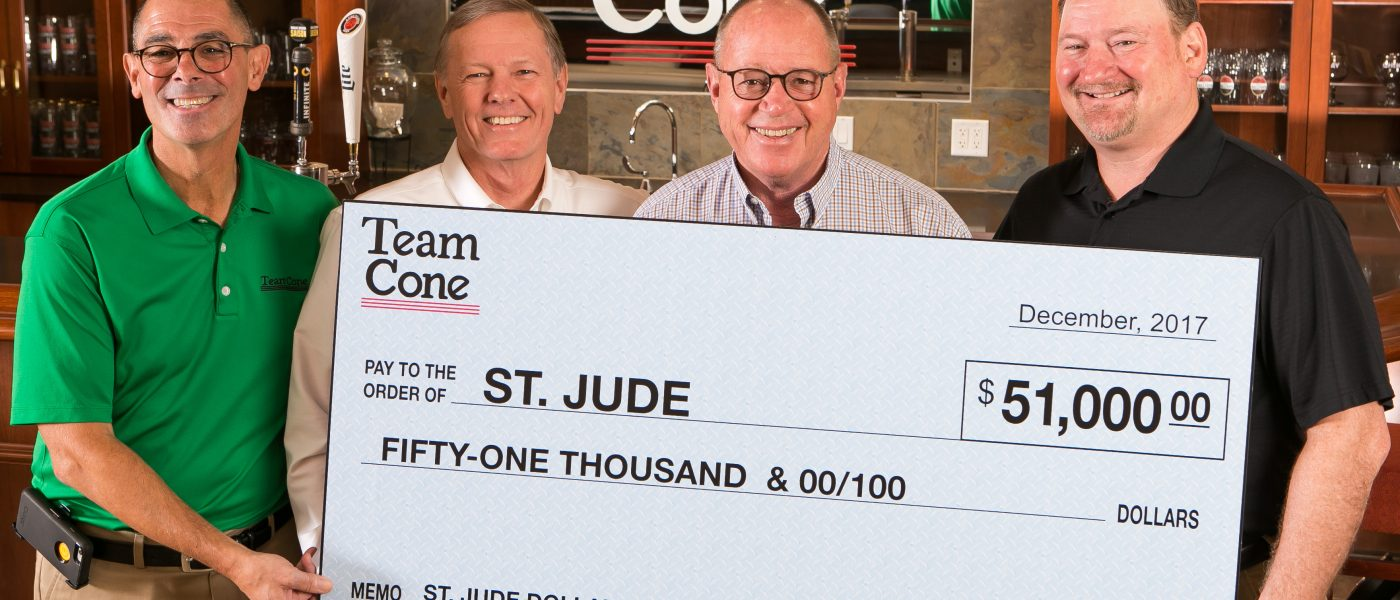 Team Cone St Jude donation