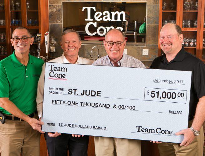 Team Cone St Jude donation