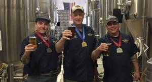 Veterans United Brewery celebrates their medals