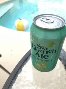 Dogfish Head SeaQuench next to the pool