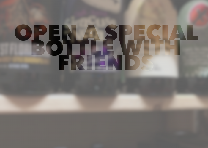 Open a special bottle for Open That Bottle Day