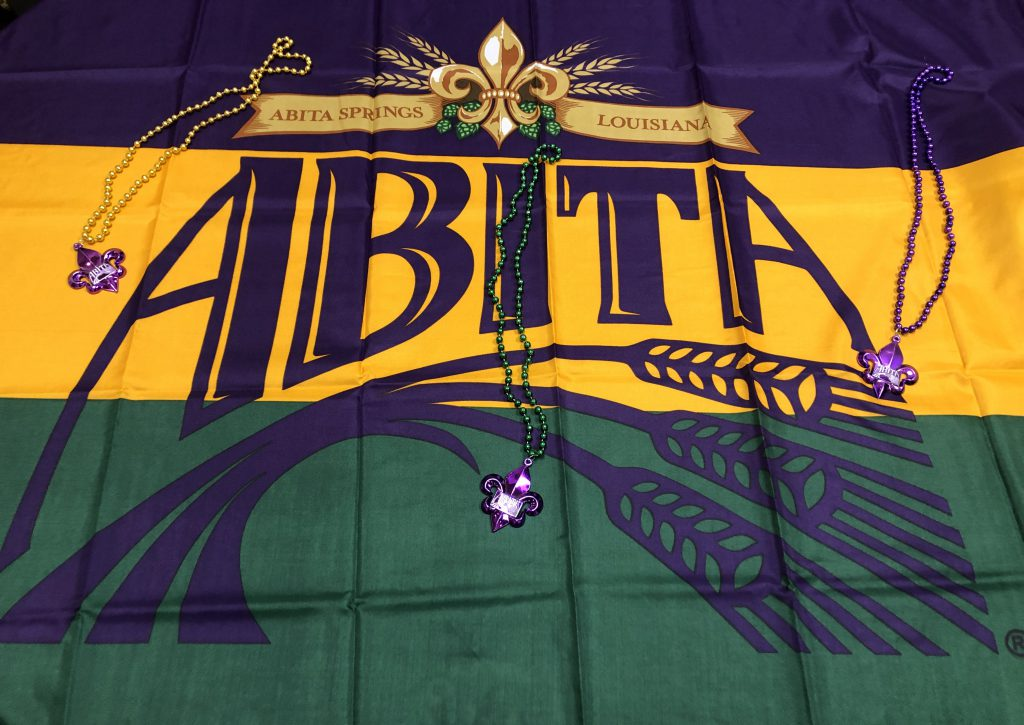 Abita Brewing Company Flag for Mardi Gras