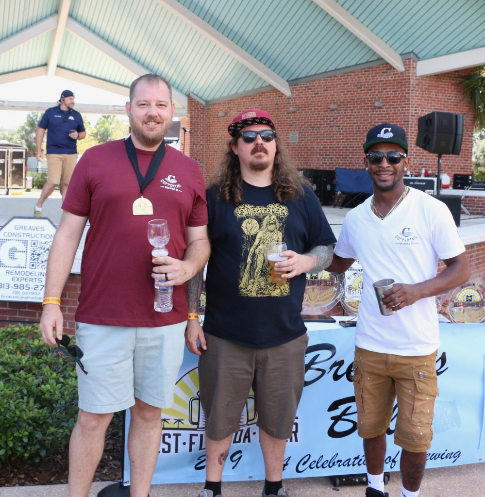Group of Coppertail Brewing brewers from Best Florida Beer's Brewers Ball 2019