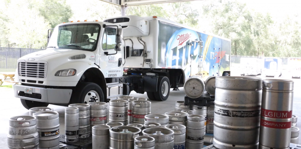 Team Cone truck with kegs