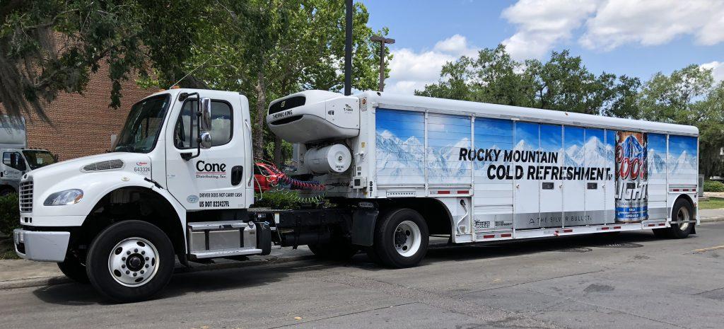 Team Cone beer truck