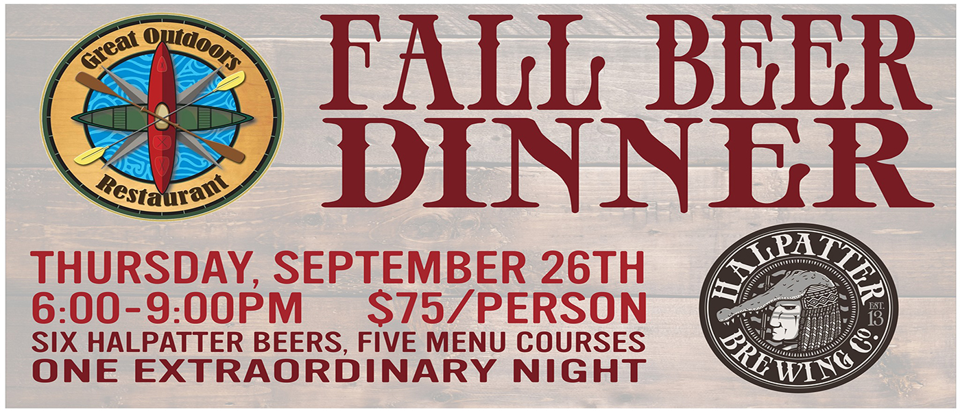 Halpatter Brewing Beer Dinner at The Great Outdoors
