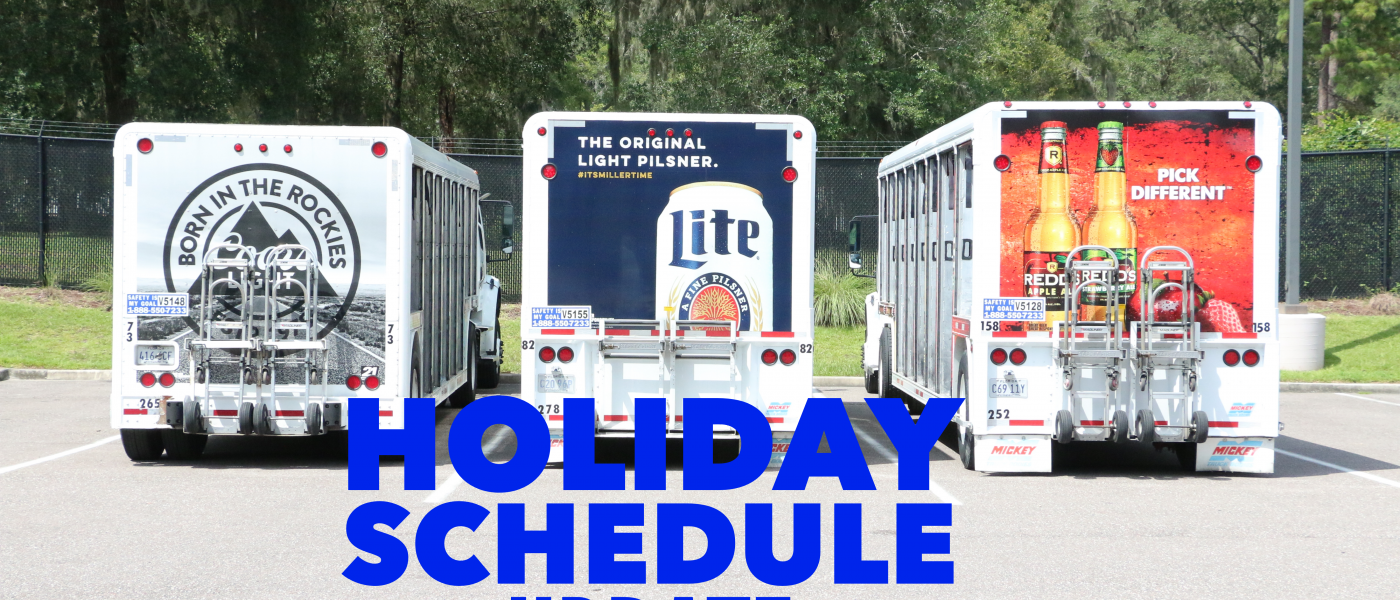 Holiday Schedule UPDATE