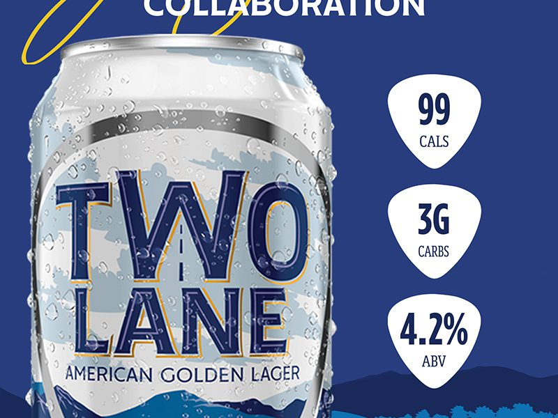 Two Lane American Golden Lager can