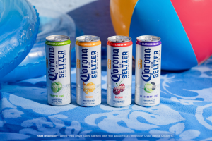 Corona Seltzer family with beach background