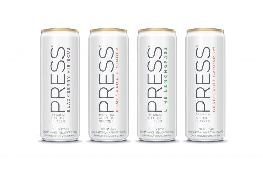 PRESS Seltzer - All Cans in a line
