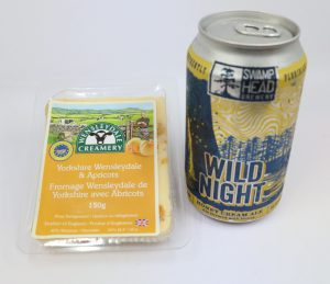Cheese Pairing: Swamp Head Brewery Wild Night with Wensleydale Yorkshire Apricot