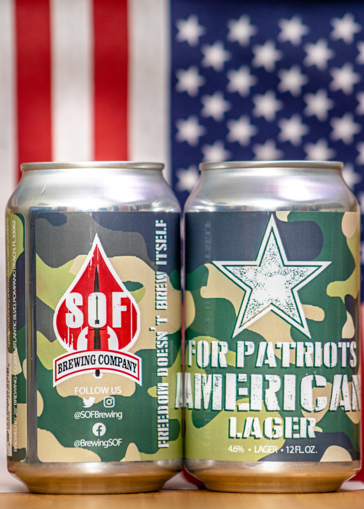 SOF Brewing For Patriots American Lager