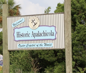 Welcome to Apalachicola sign