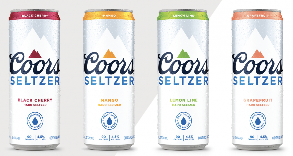 Coors Seltzer's array of flavors
