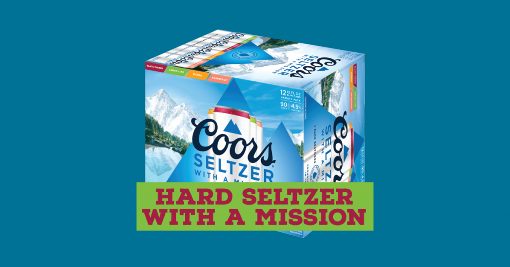 Coors Seltzer - the hard seltzer with a mission