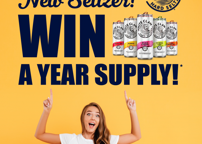 Win a Year of White Claw Hard Seltzer! Sweepstakes Flier