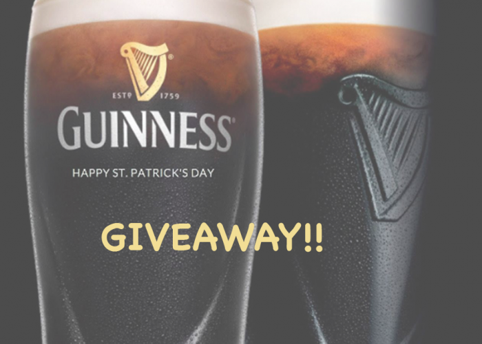 Guinness Giveaway image of pint and text