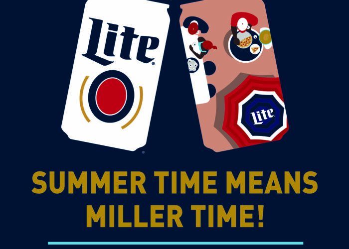 Summertime is Miller Time graphic