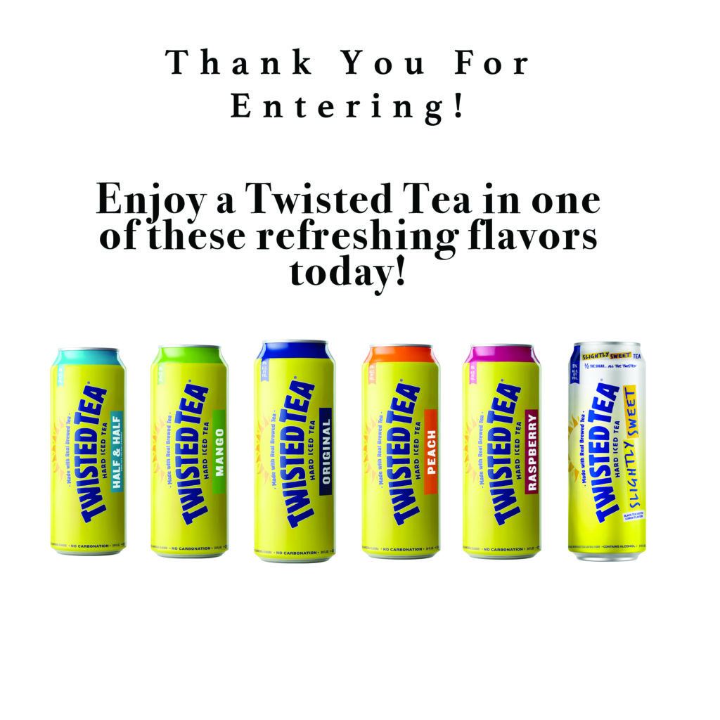 6 cans of Twisted Tea in various flavors